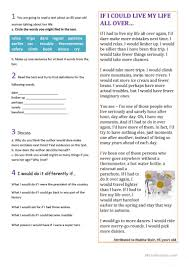 read second conditional worksheet free esl printable worksheets