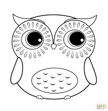 easy owl coloring page free coloring page printable owl coloring