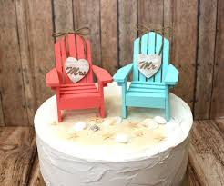 chair cake topper wedding cake topper adirondack chairs aqua blue coral