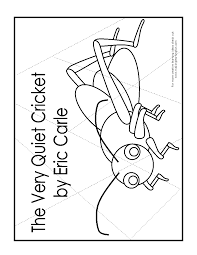 the very quiet cricket coloring pages coloring home