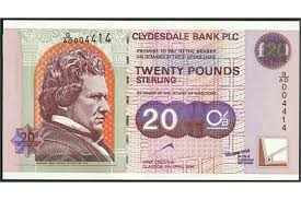 banknote yearbook clydesdale bank plc 20 4 1999 serial numbers a al 675939 g