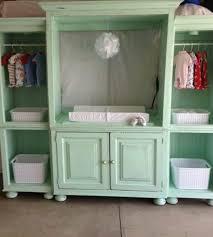 Changing Table For Babies Baby Changing Table From Entertainment Center Repurpose Redeemed