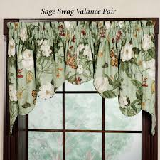 Swag Curtains For Living Room by Window Valance Ideas Waverly Kitchen Curtains Swag Valance
