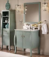 Unique Powder Rooms Exquisite Vertical Cabinet Between Planter And Tall Mirror In