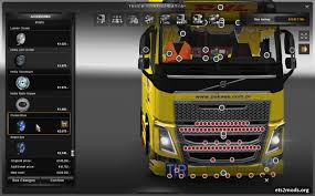 new volvo fh truck new volvo fh mega tuning interior addons ets2 mods