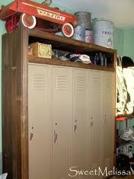 Locker Bookshelf From Old Locker To Hip Wardrobe Lockers Bedrooms And Laundry Design
