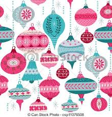 vintage background with tree balls vector