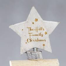 personalised natural wood christmas tree ornament by lisa angel
