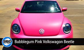 pink volkswagen beetle bubblegum pink wrap on vw beatle youtube