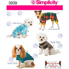 white china pattern 3939 simplicity pattern dog clothes in 3 sizes s m l walmart