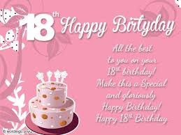 18th birthday wishes greeting and messages wordings and messages