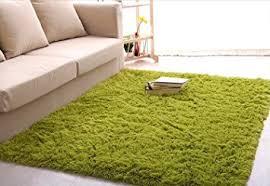 Modern Green Rug Newrara Soft 4 5 Cm Thick Modern Shag Area Rugs