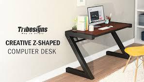 Z Shaped Desk Computer Desk Tribesigns Z Shaped Office Desk Workstation With