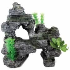 aqua one rock mountain plants ornament 36455 aqua one