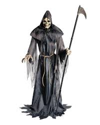 gripping sensenmann halloween animatronic haunted figure horror