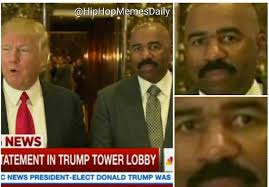 Meme Steve - steve harvey gets memed to pluto after meeting with trump bossip