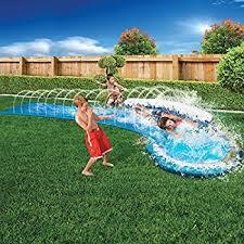 amazon com banzai my first water slide children kids toddler