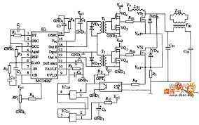 inverter control and drive circuit diagram amplifier circuit