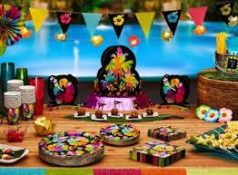 Luau Party Table Decorations Luau Party Ideas Party City