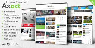 templates blogger themes axact responsive magazine blogger theme by themelet themeforest