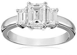 size 6 engagement ring igi certified kobelli 1 1 2 cttw three emerald cut