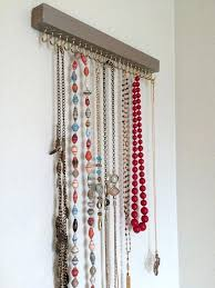 jewelry necklace holder stand images Hanging necklace holder driftwood jewelry display wall mounted jpg