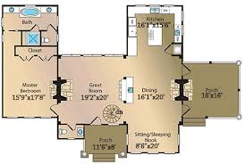Floor Plans With Two Master Bedrooms Log Home Plan With Two Master Suites 13316ww Architectural
