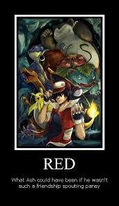 Pokemon Trainer Red Meme - pokemon red vs ash