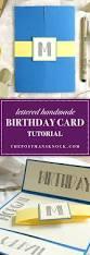 lettered handmade birthday card tutorial the postman u0027s knock