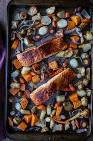 Recipe For Roasted Root Vegetables - salmon and root vegetable sheet pan dinner the roasted root