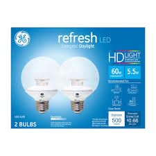 Led Light Bulbs Wattage Conversion by Ge 60w Equivalent Daylight 5000k High Definition G25 Globe Clear