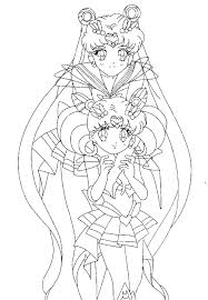super sailor moon and chibimoon coloring page by sailortwilight on