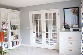 Billy Bookcases With Doors Office Makeover Reveal Ikea Hack Built In Billy Bookcases