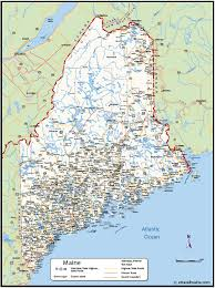 map of maine cities maine map map of maine town city maine map