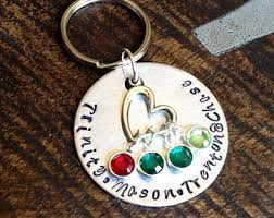 personalized birthstone keychains name year wood keychain personalized birthday keychain