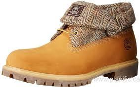 canada timberland men u0027s roll top fabric winter boot wheat nubuck