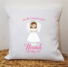 communion gifts for personalised holy communion cushion communion gifts