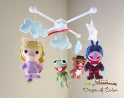 Frog Nursery Decor The Muppets Baby Mobile Baby Crib Mobile Nursery Inspired