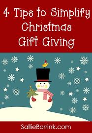 4 tips to simplify christmas gift giving sallieborrink com
