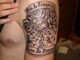 heart spider web tattoo