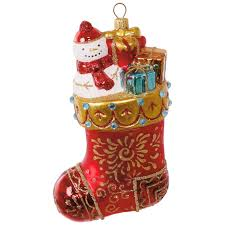christmas stocking blown glass ornament specialty ornaments