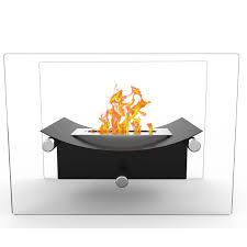 elite flame arkon ventless tabletop bio ethanol fireplace black