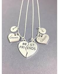 best friends friendship necklace images Deal alert cousin necklace set of 2 best friend necklaces for 2