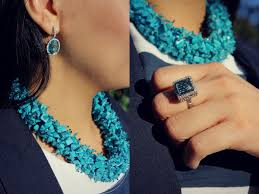 turquoise colored necklace images Into the blue styleat30 jpg