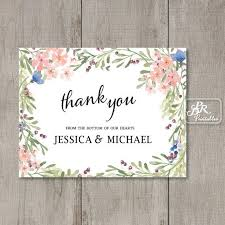 personalized thank you cards printable personalized thank you card from pdr printables boho