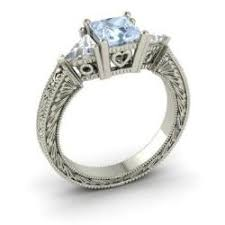 aquamarine wedding rings esperance ring with princess cut aquamarine white topaz 2 1