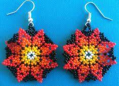 Native American Beaded Earrings Huichol Huichol Beaded Earrings Bead Earrings Beads And Create
