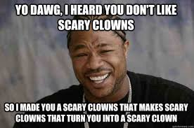 Creepy Meme - 20 scary clown memes that ll haunt you at night sayingimages com