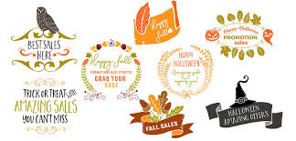 halloween title transparent background fall halloween sales overlays objects creative market