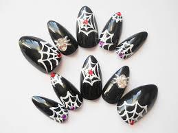black stiletto nails goth nails almond nails press on